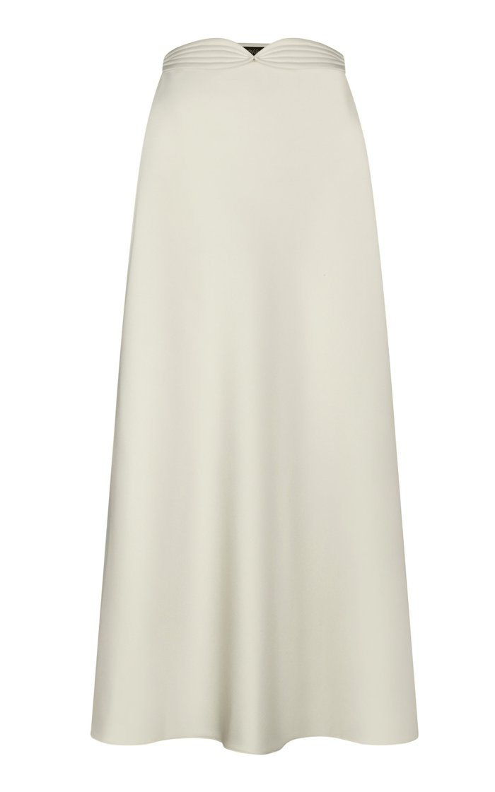 High-Rise Satin Skirt