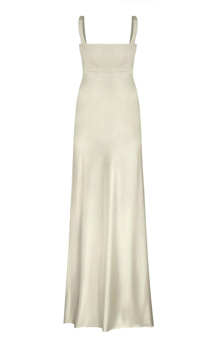 Bustier Satin Maxi Dress