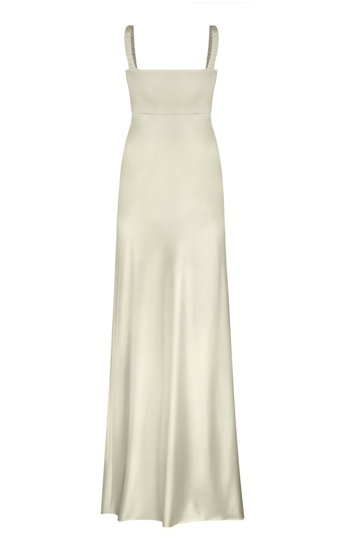 Bustier Satin Maxi Dress
