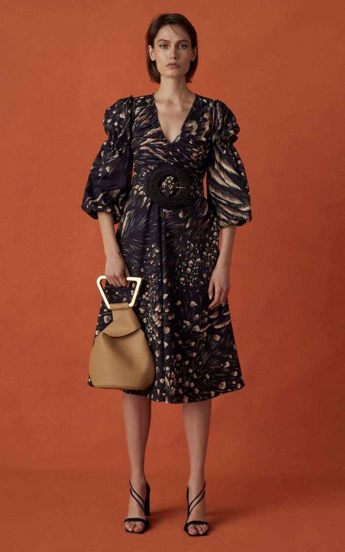 Chiara Printed Cotton-Silk Dress