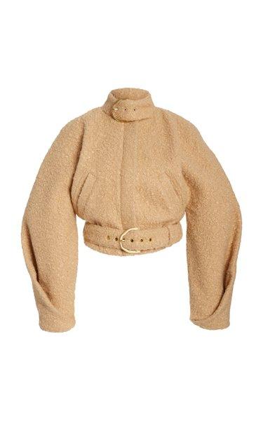 Joan Cropped Faux Shearling Jacket