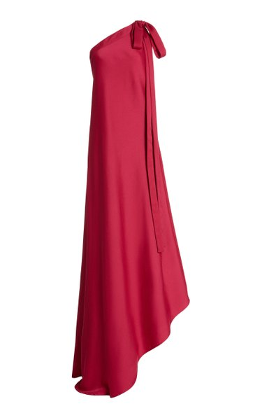 Florence Asymmetric One-Shoulder Satin Gown