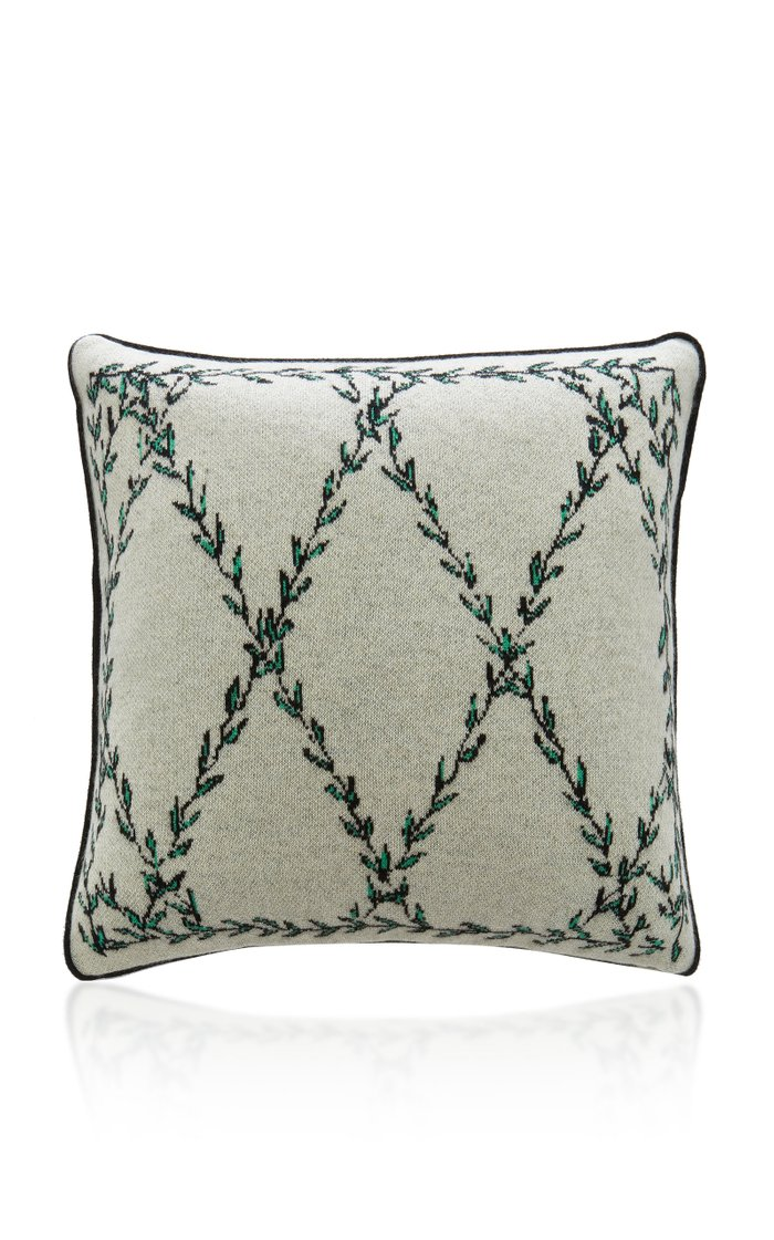 Vine Printed Cashmere Pillow