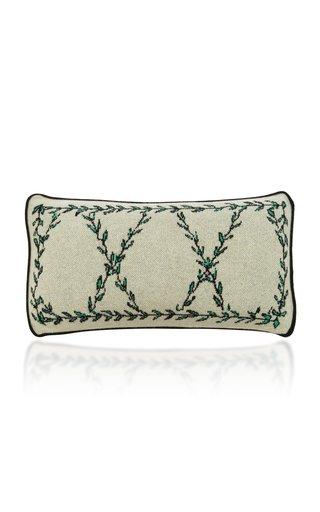 Vine Printed Cashmere Lumbar Pillow