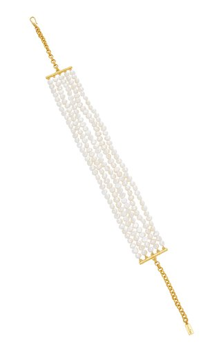 Rilla Gold-Plated Pearl-Embellished Necklace