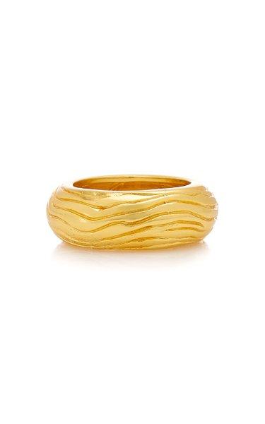 Gold-Tone Wavey Ring