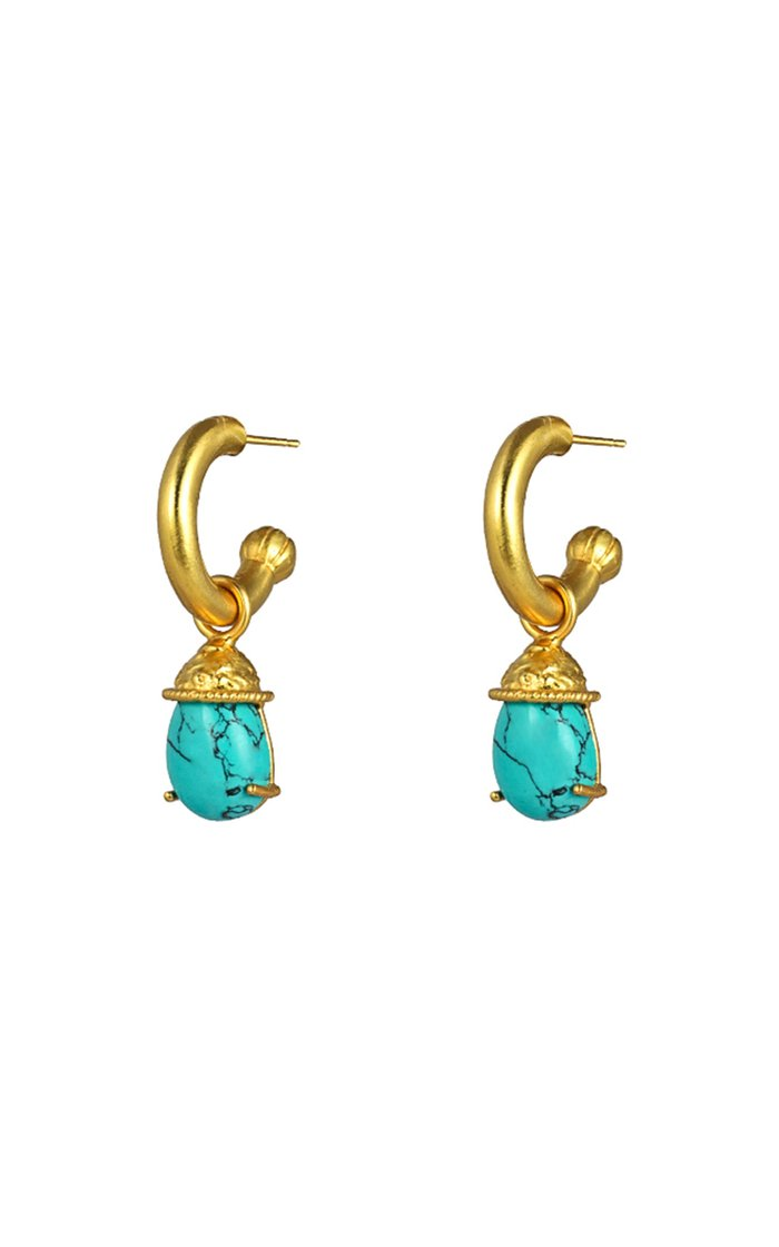 Jewel Gold-Plated Turquoise Earrings