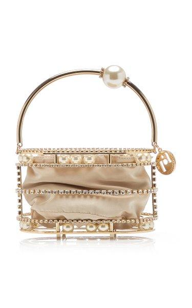 Abaco XS Embellished Gold-Tone Top Handle Bag