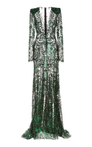 SpecialOrder-Sequin Embroidered Gown-RUSH-BR