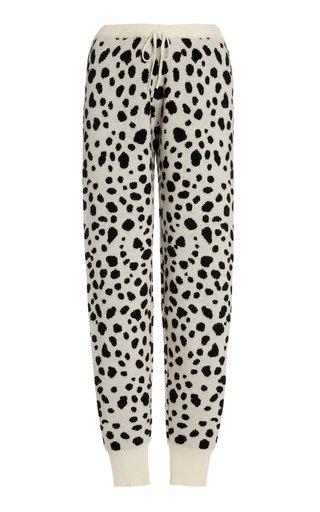 Jacquard Wool-Cashmere Pants