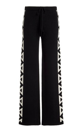 Cashmere Drawstring Wide-Leg Pants