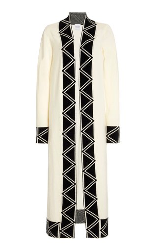 Embroidered Cashmere-Wool Cardigan