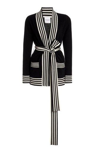 Striped Varsity Cashmere Cardigan