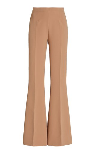 Halluana Crepe Flared Trousers