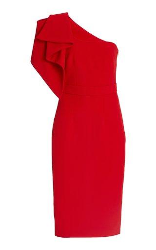 Bernitna Draped Heavy Crepe Midi Dress