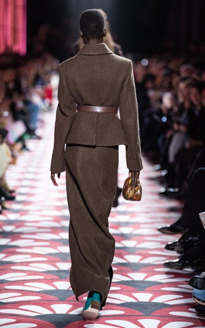 High-Rise Wool Maxi Skirt