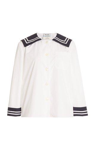 Cotton-Poplin Sailor Shirt