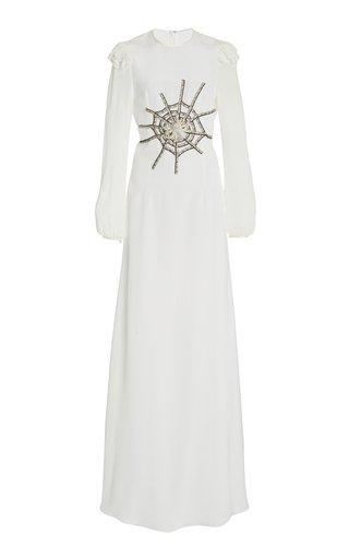 Embellished Embellished Silk Maxi Dress