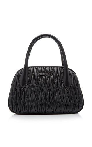 Matelasse Leather Top Handle Bag