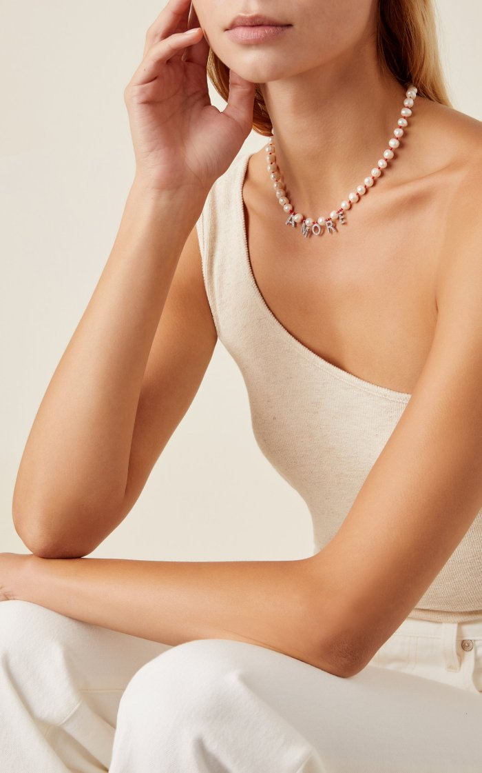 Amore Sterling Silver Pearl Necklace