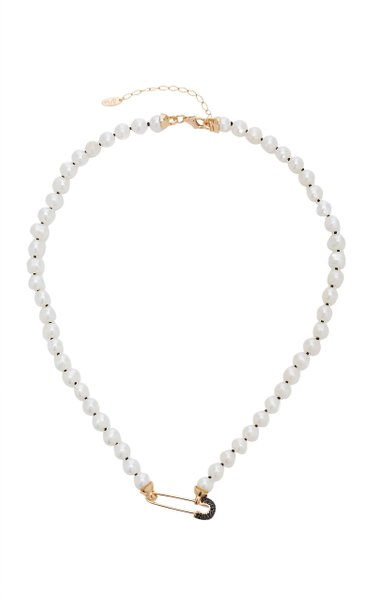 Goldy Jazz Pearl 18K Gold-Plated Necklace
