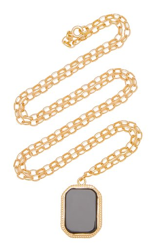 Onyx 18K Gold-Plated Necklace