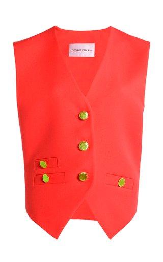 Button-Embellished Vest