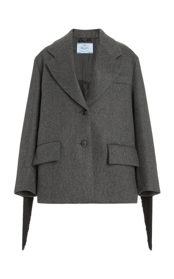 Oversized Single-Breasted Wool Jacket