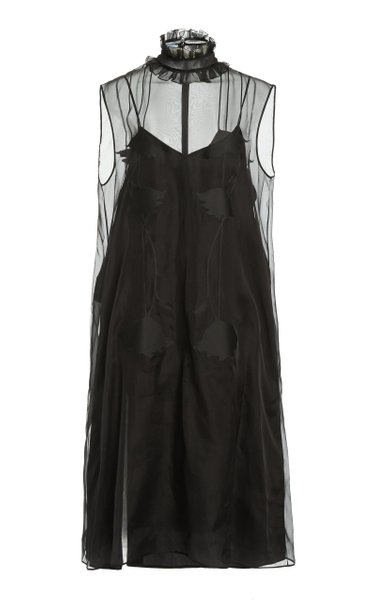 Knee-Length Organza Dress