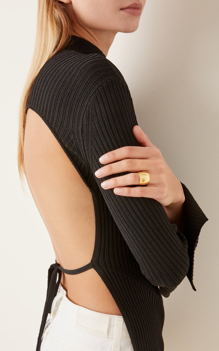 18K Gold Vermeil Wide Cigar Ring