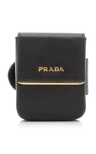 Saffiano Leather Pouch Bracelet
