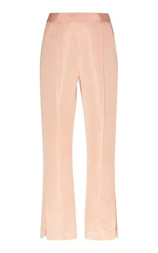 Specialorder-High-Waisted Straight-Leg Silk Pants-MS