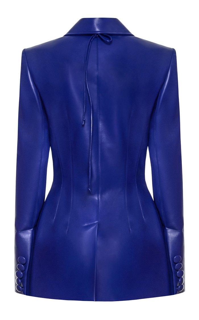 Bustier Faux Leather Jacket