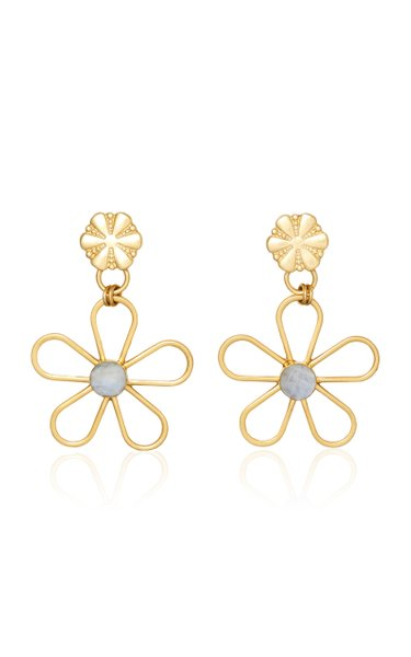Gold-Tone Petunia Earrings