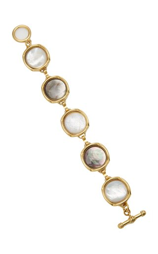 Bright Side Mother-Of-Pearl 24K Gold-Plated Bracelet