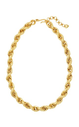 Gold-Tone Spiral Staircase Necklace