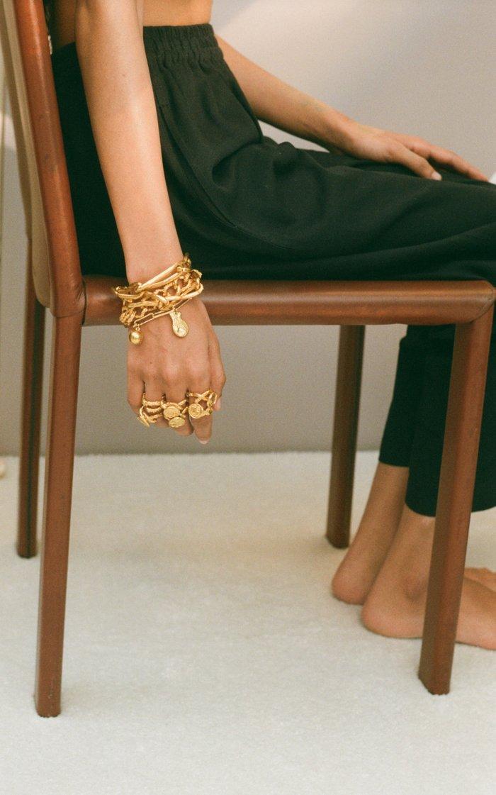 A Heap of Broken Images 24K Gold-Plated Bracelet