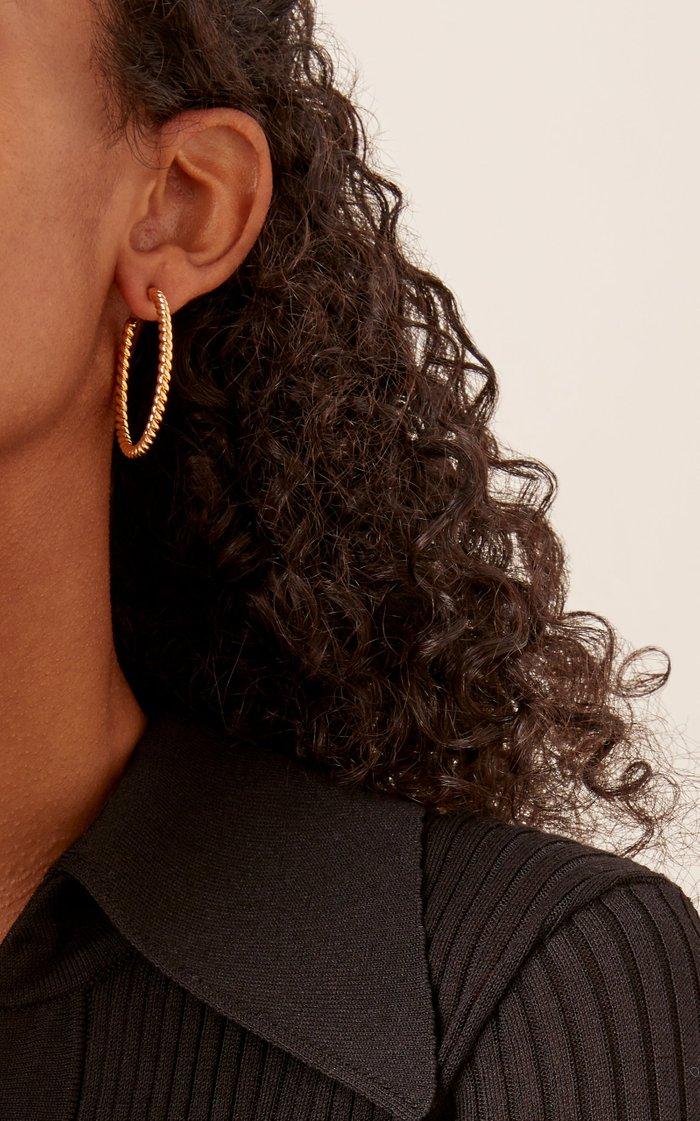 Twisted Gold-Plated Hoop Earrings