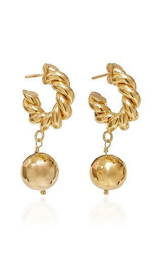 Twisted Gold-Plated Drop Earrings