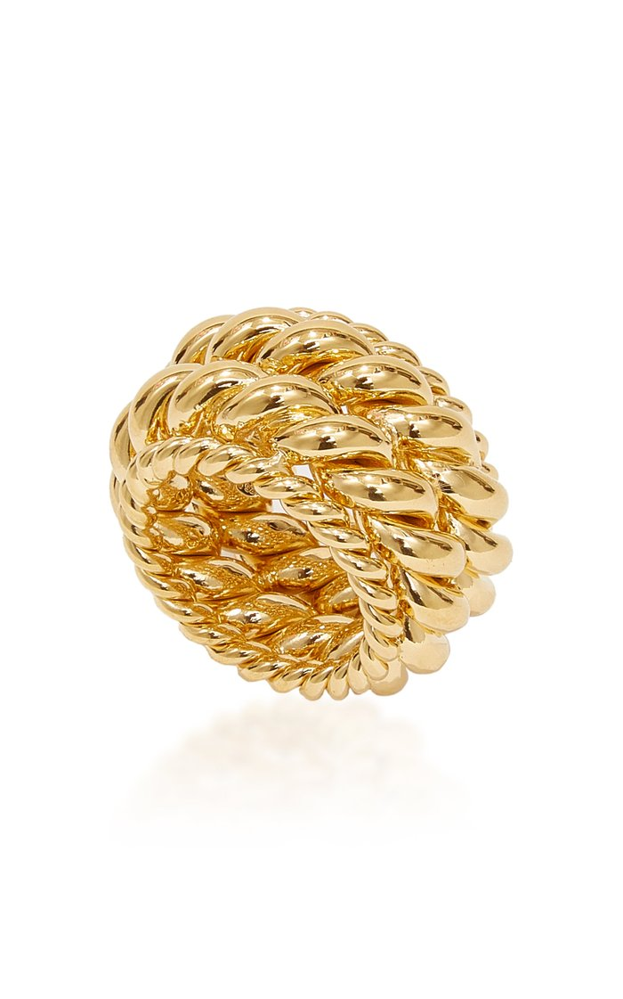 Twisted Spin Gold-Plated Ring
