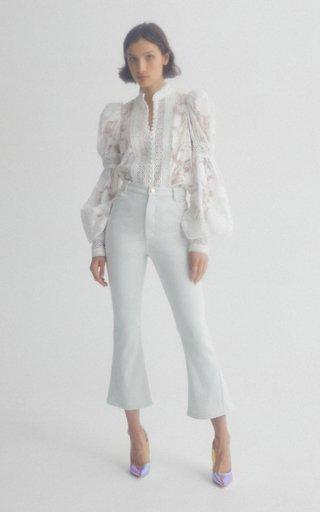 Dunbar Cropped High-Waisted Flared Jean