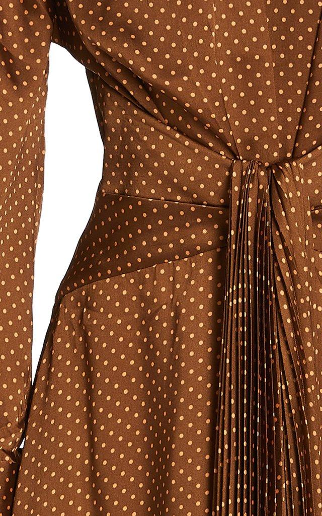 Hernshaw Printed Satin Midi Dress