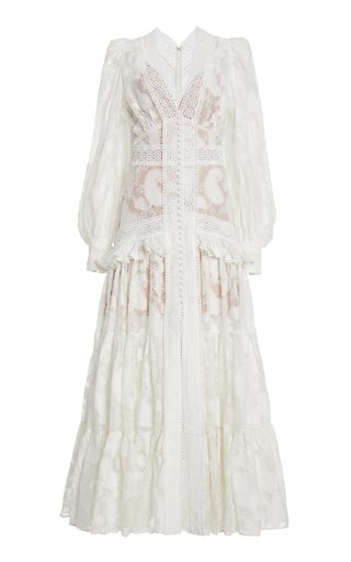 Suffield Ruffled Lace Maxi Dress