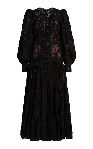 Suffield Ruffled Lace Maxi Dress