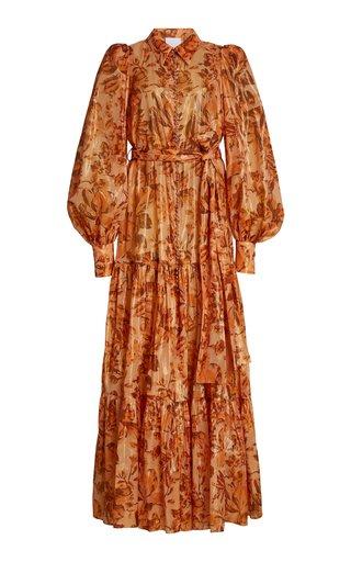Naples Floral Cotton-Blend Maxi Dress