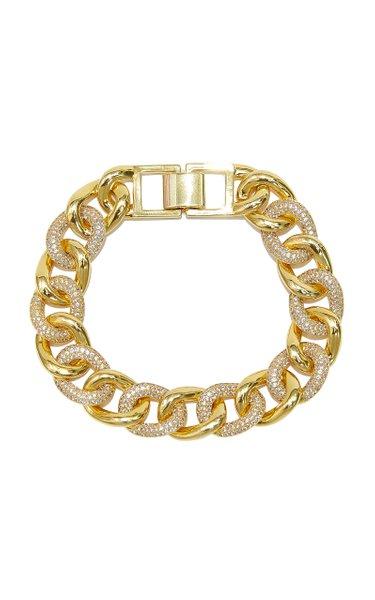 Curb Gold-plated Brass Bracelet