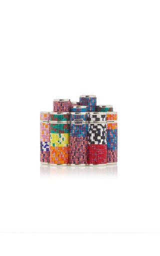 Poker Chips Crystal Clutch