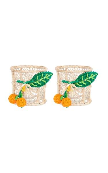 Set Of 2 Medium Wild Orange Candle Holder