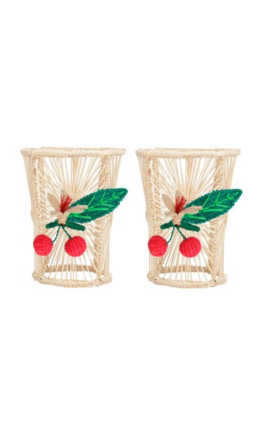 Set Of 2 Cherry Cup Holder