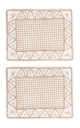 Set Of 2 Rectangular Natural Placemat